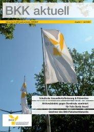 BKK aktuell 1/2013 - BKK-Landesverband NORDWEST