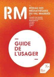 Guide de l'usager - Agglomération de Marne-la-Vallée / Val Maubuée