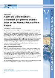 About the UNV programme and the State of the World's ...