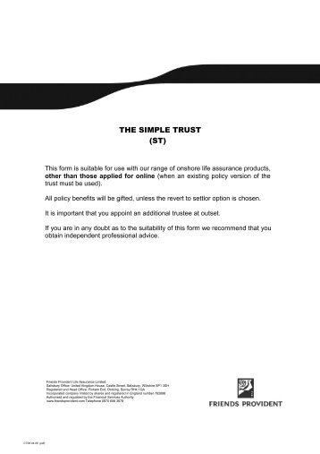Absolute Trust Pack - Friends Life