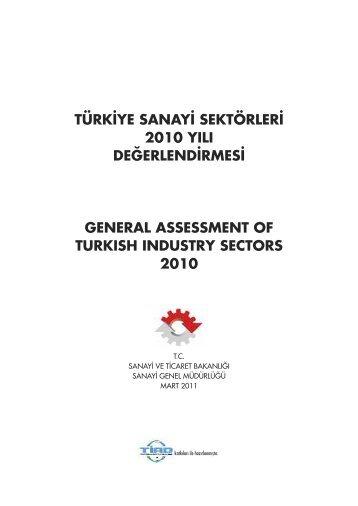 türkiye sanayi sektörleri 2010 yılı değerlendirmesi general