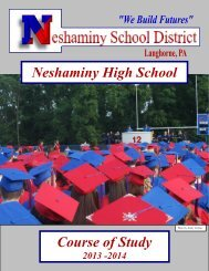 2013/2014 Course Selection Book - Neshaminy School District