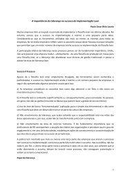 A importância da Liderança no sucesso da implementação Lean