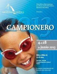 campionero 2013 - Pontificia Universidad Católica de Puerto Rico
