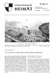hohenzollerische heimat w 3828 fx - Hohenzollerischer ...