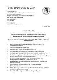 Humboldt-Universität zu Berlin - Prof. Dr. Windbichler - Humboldt ...