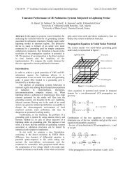 Transient Performance of 3D Substation Systems Subjected to ...
