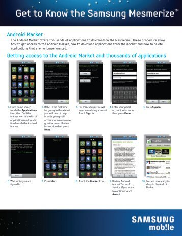 Android Market Getting access to the Android Market ... - US Cellular