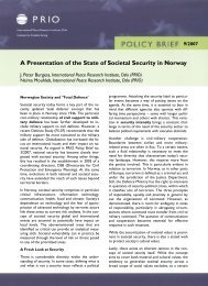 A Presentation of the State of Societal Security in Norway - PRIO