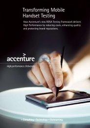Transforming Mobile Handset Testing - Accenture