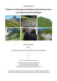 Einfluss von Nutzungsumstellungen auf die Bodenerosion von ...