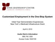 Customized Employment in the One-Stop System - John J. Heldrich ...