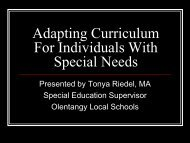 Adapting Curriculum For Individuals With Special Needs