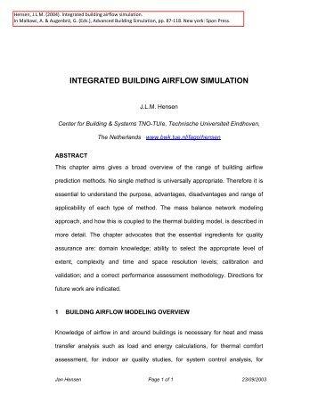 integrated building airflow simulation - Technische Universiteit ...