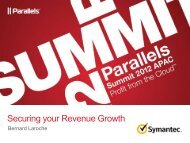 Securing your Revenue Growth - Parallels