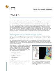 ENVI 4.8 - Exelis VIS