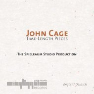John Cage - gligg records
