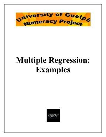 Multiple Regression Examples - Atrium