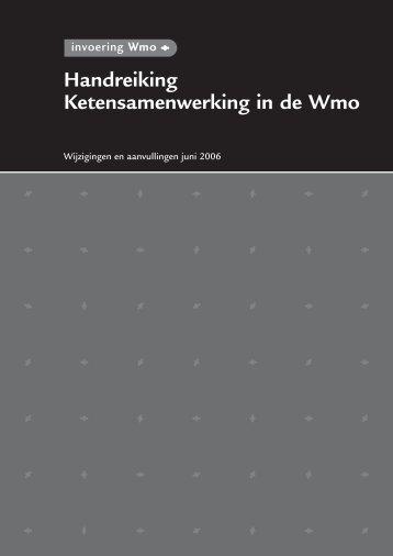 memo wijzigingen handreiking ketensamenwerking - Invoering Wmo