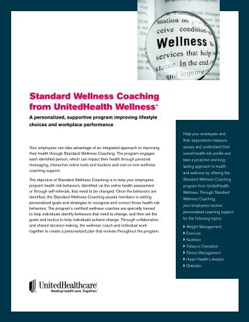Standard Wellness Coaching from UnitedHealth Wellness®