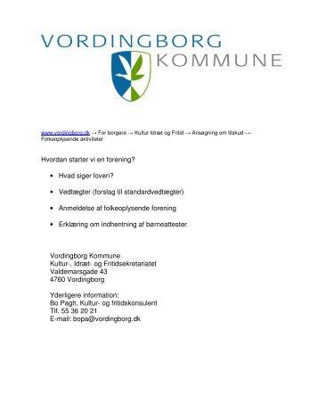 Startpakke pdf - Vordingborg Kommune