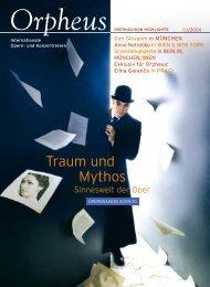 Traum und Mythos - Orpheus - internationale Opern- und ...