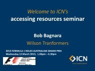 Bob Bagnara, Sales and Marketing Manager - ICN