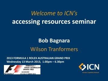 Bob Bagnara, Sales and Marketing Manager - ICN