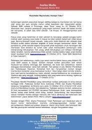 Analisis Media Oktober 2012 - Kalyanamitra