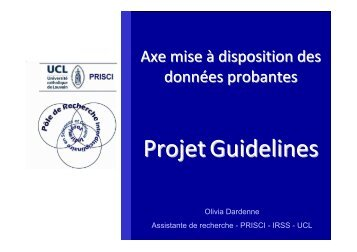 Projet Guidelines - Sesa - UCL
