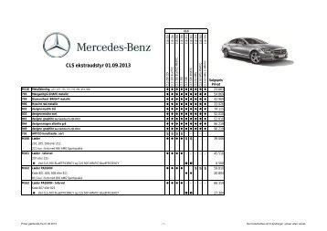 CLS ekstraudstyr 01.09.2013 - Mercedes-Benz Danmark