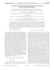 Nonadiabatic Spin Torque Investigated Using Thermally Activated ...