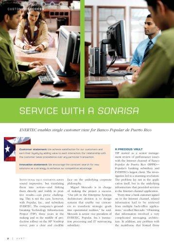 Service with a sonrisa: EVERTEC enables single ... - HP NonStop