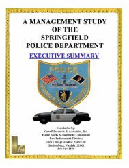 Executive Summary - City of Springfield