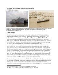 NATIONAL REGISTER ELIGIBILITY ASSESSMENT Vessel History