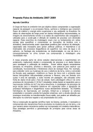 Proposta Física do Ambiente 2007-2009 - Geoma