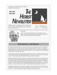 THE HERBST NEWSLETTER - Bill Herbst, astrologer