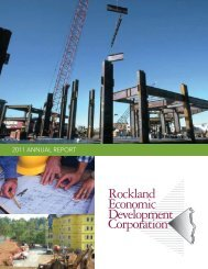 REDC 2007 Annual Report - Rockland Economic Development ...