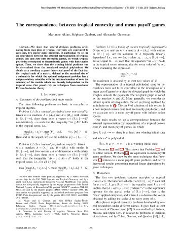 The Correspondence between Tropical Convexity and ... - CMAP