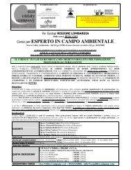 Corso per ESPERTO IN CAMPO AMBIENTALE - Ordine dei Geologi ...