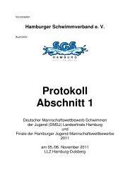 Protokoll Abschnitt 1 - Hh-swim-info.de