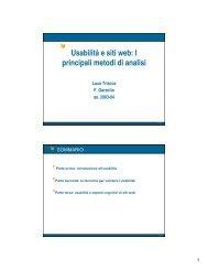 Usabilità e siti web: I principali metodi di analisi