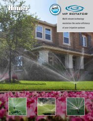 Hunter MP Rotator Sprinkler Owner's Manual - Irrigation Direct