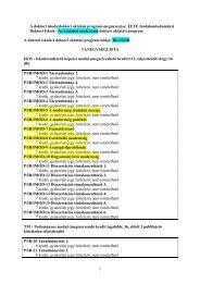 1 A doktori iskola/doktori oktatási program megnevezése: ELTE ...