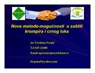 Nove metode - mogućnosti u zaštiti krompira i crnog ... - savetodavstvo