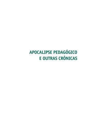 apocalipse pedagógico e outras crônicas - Academia Brasileira de ...