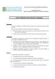 Notice d'utilisation du thermomètre tympanique - SMUR BMPM