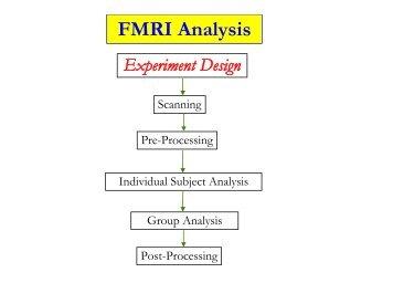 FMRI Analysis Experiment Design