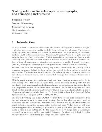 PDF version of this essay that looks nicer - University of Arizona