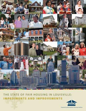 THe STaTe of fair HouSing in LouiSviLLe - Metropolitan Housing ...